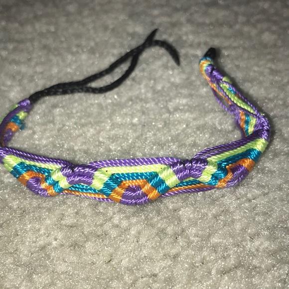 102dd677f4fa9 Purple orange blue green wave friendship bracelet